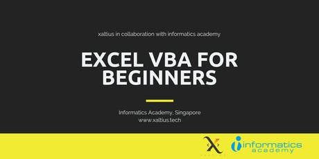 Excel VBA for Beginners tickets