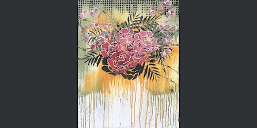 Leaves and Flowers Paint and Sip Brisbane 26.9.19