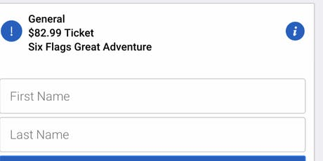 Great adventure tickets  6 tickets available any date  tickets