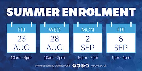 Summer Enrolment | 28th August tickets