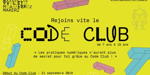 Code Club @Villette Makerz (saison 2019-2020)