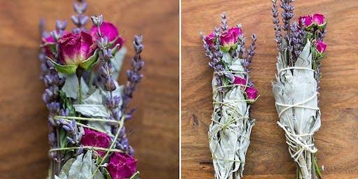 Create a Sage & Floral Smudge Stick