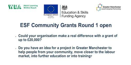 WEA ESF Community Grants Workshop Ashton