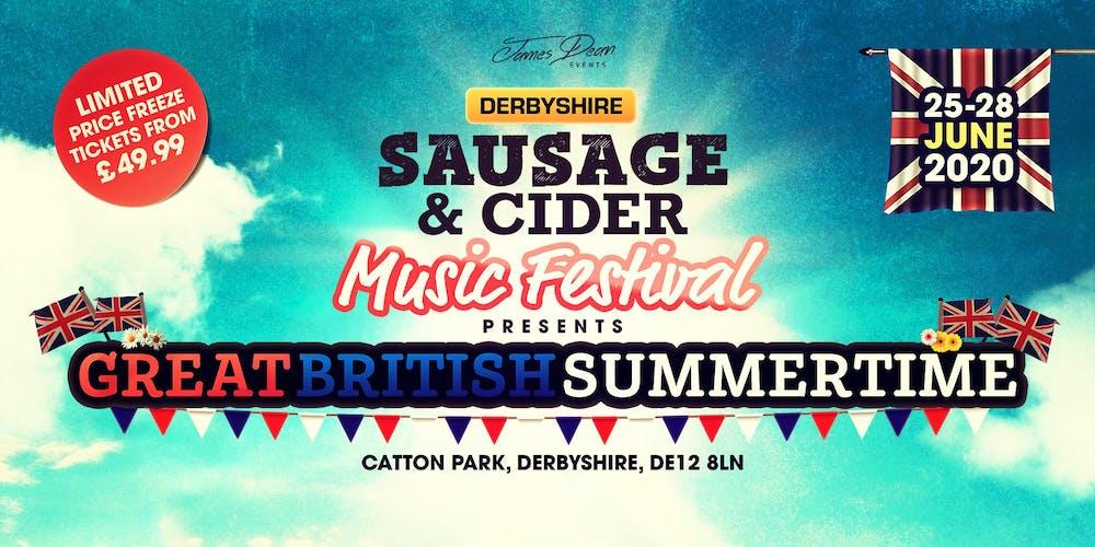 Derby Festival 2020.Derbyshire Sausage Cider Music Festival 2020 Tickets Thu