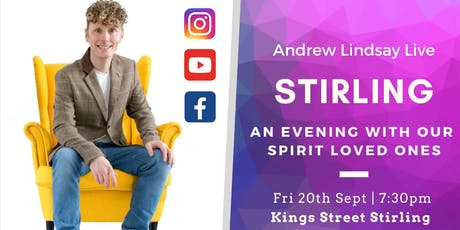"Andrew Lindsay Medium  Live -  STIRLING ""Spirit on Earth Tour"" tickets"