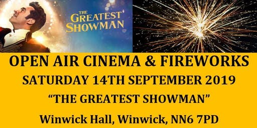 Charity Open Air Cinema & Fireworks Display to Music at Winwick Hall