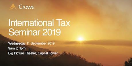 International Tax Seminar 2019 tickets