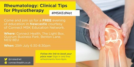 Rheumatology: Clinical Tips  for Physiotherapy - Newcastle tickets