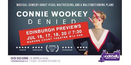EDINBURGH PREVIEWS - CONNIE WOOKEY @ BARONS COURT THEATRE tickets