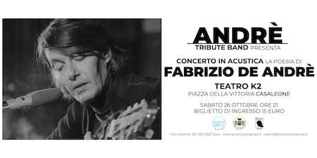 La poesia di Fabrizio De Andrè biglietti