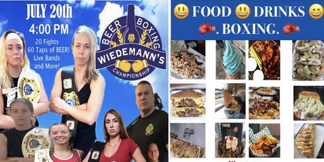 Food - Drinks- Live Boxing at Wiedemann's Brewery tickets