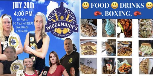 Food - Drinks- Live Boxing at Wiedemann's Brewery