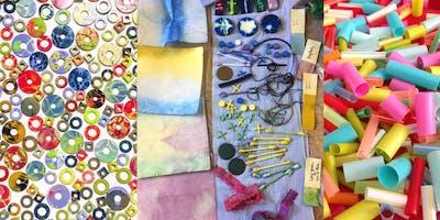 Dye/Create day - handmade embellishments for textile art