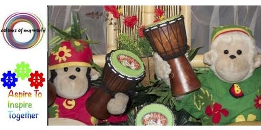Make Your Own Monkey Drum -  Colours Of My World Workshop