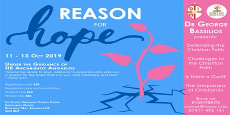 Reason for hope Conference tickets