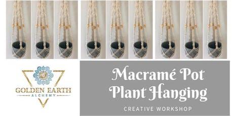Macramé Pot Plant Hanging Workshop  tickets