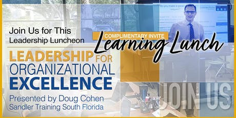 Learning Lunch: Leadership for Organizational Excellence tickets
