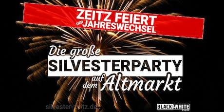 Die große Silvesterparty auf dem Altmarkt | Zeitz | 2019 Tickets