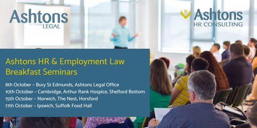 Ashtons HR & Employment Law Breakfast (Bury St Edmunds)