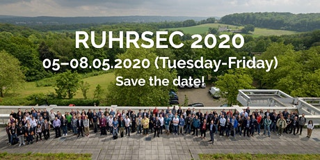 RuhrSec 2020 - IT Security Conference Tickets