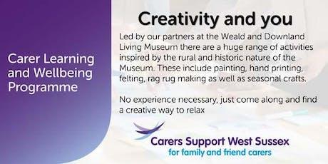 Carer Workshop:  Creativity and You - Littlehampton tickets