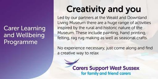 Carer Workshop:  Creativity and You - Crawley