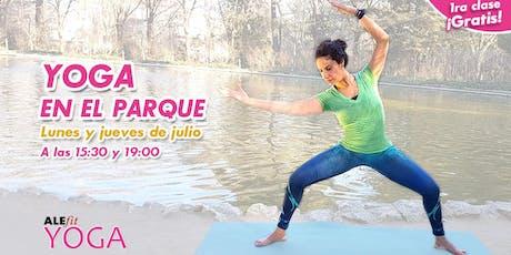 ¡YOGA EN EL PARQUE! (Lunes y jueves de julio a las 15:30) entradas
