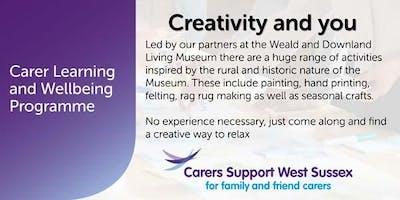 Carer Workshop:  Creativity and You - Haywards Heath