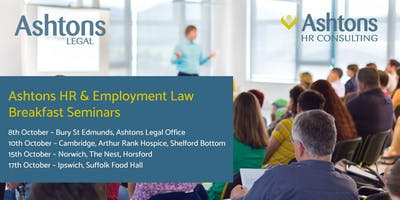 Ashtons HR & Employment Law Breakfast (Ipswich)