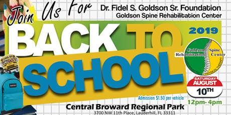 Goldson Spine Back to School - Book Bag Giveaway tickets