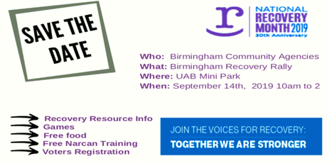 Birmingham Recovery Rally tickets