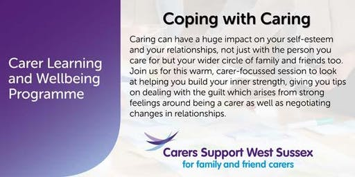 Carer Workshop:  Coping with Caring - Crawley
