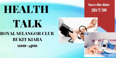 Health Talk with Free Screening & Consultation tickets