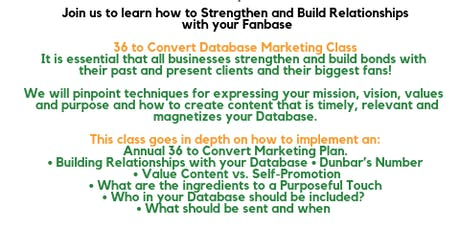 FREE Database Relationship Marketing Class - OPEN TO ALL SMALL BUSINESSES tickets