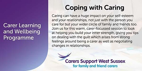 Carer Workshop:  Coping with Caring - Chichester tickets