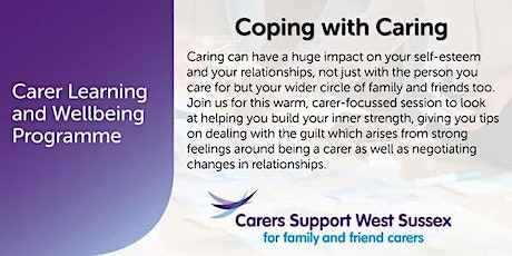 Carer Workshop:  Coping with Caring - Shoreham tickets