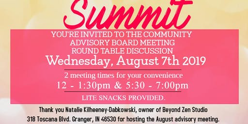 Women's Entrepreneur Summit Community Advisory Board Meeting - August