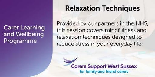 Carer Workshop:  Relaxation Techniques - Horsham
