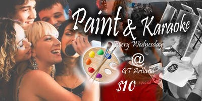 GT Artland Karaoke Paint and Sip Party BYOB with Blacklight