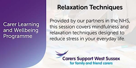 Carer Workshop:  Relaxation Techniques - Steyning tickets