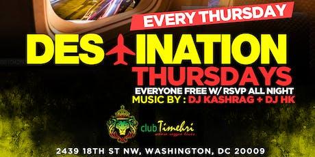 #DestinationTHURSDAYS - International Sounds | reggae, afrobeats, soca, dancehall tickets