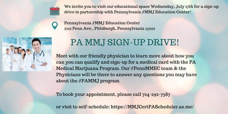 PA MMJ SIGN UP DRIVE! tickets