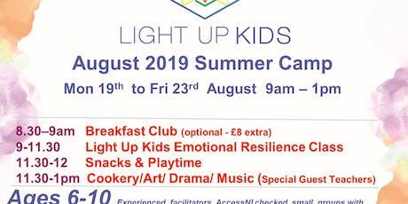 August 19th - 23rd Light Up Kids Summer Scheme tickets