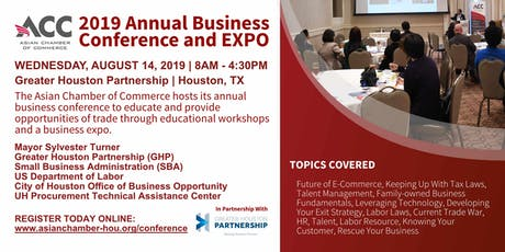 Business Conference and Expo 2019 - Asian Chamber of Commerce Houston tickets