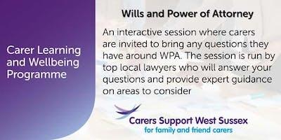 Carer Workshop:  Wills and Power of Attorney - Shoreham