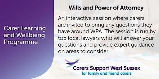 Carer Workshop:  Wills and Power of Attorney - Littlehampton
