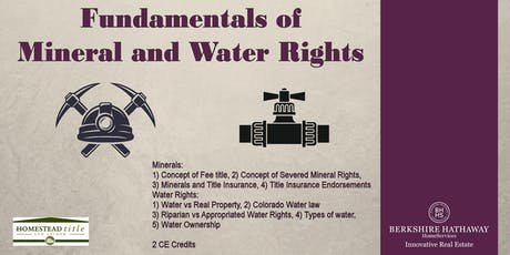 Fundamentals of Mineral & Water Rights tickets