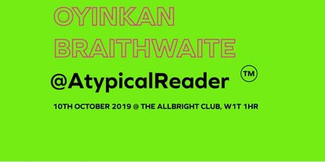 AtypicalReader: Read, Reflect and Rethink with Oyinkan Braithwaite tickets