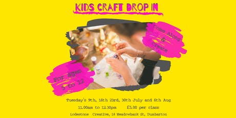 Kids Summer Holiday Craft Drop In  tickets