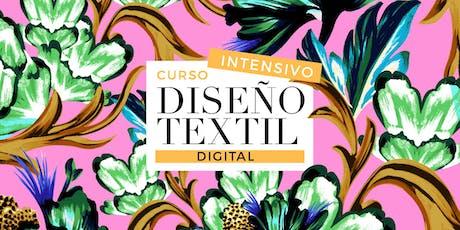 DISEÑO TEXTIL DIGITAL INTENSIVO - 9 y 10 de Agosto de 9 a 13hs entradas
